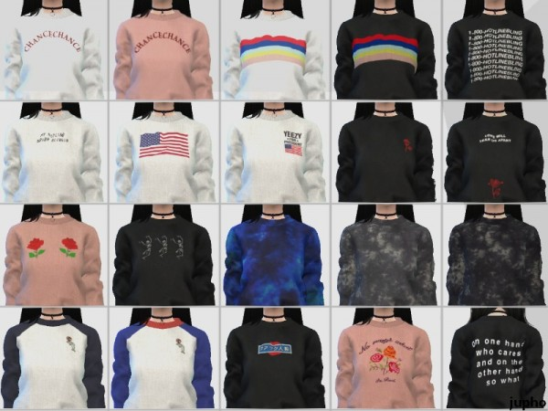 The Sims Resource: Womens Sweatshirts by jupho