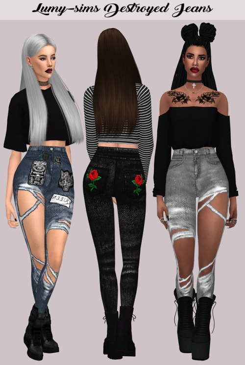Lumysims Destroyed Jeans Sims 4 Downloads