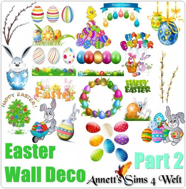 Annett`s Sims 4 Welt: Easter Wall Deco   Part 2