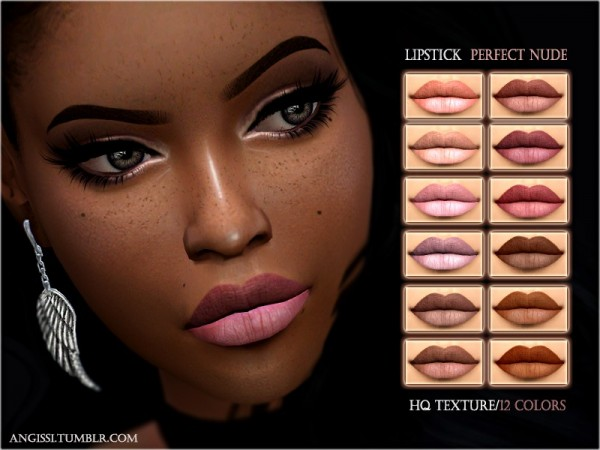 The Sims Resource: Lipstick perfect nude by ANGISSI