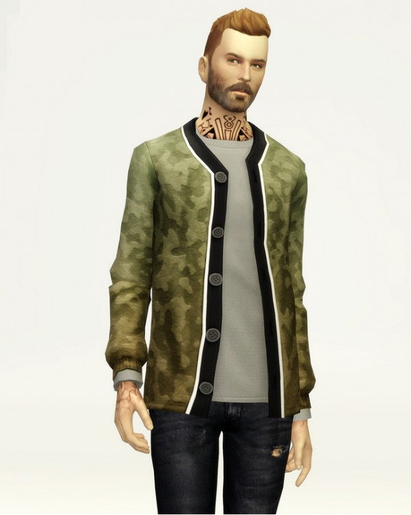 Studio K Creation: Basic Wool cardigan with t shirt for him