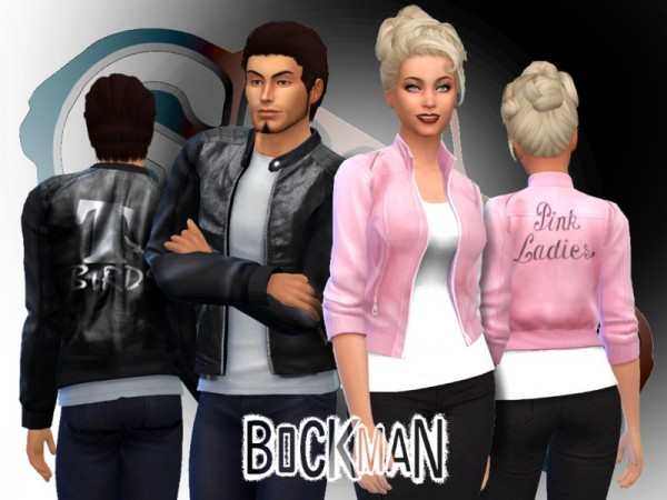 The Sims Resource: Grease Jackets Set by Bockman