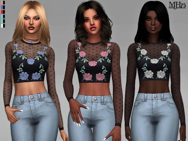 The Sims Resource: Zola Tops by Margeh 75