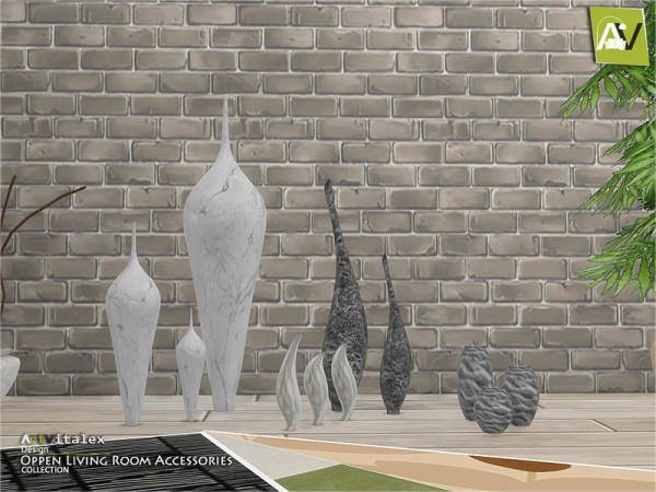 The Sims Resource: Oppen Living Room Accessories by ArtVitalex