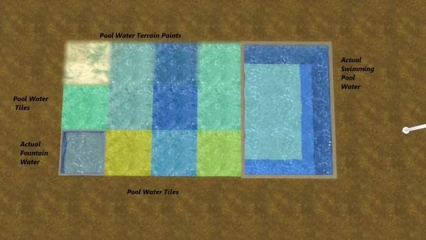 Mod The Sims: Water Unbound II   Pool Water Floor by Snowhaze