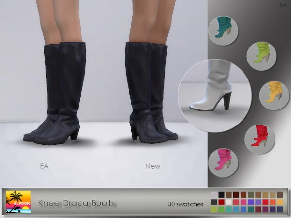 Elfdor: Knee Draca Boots recolor