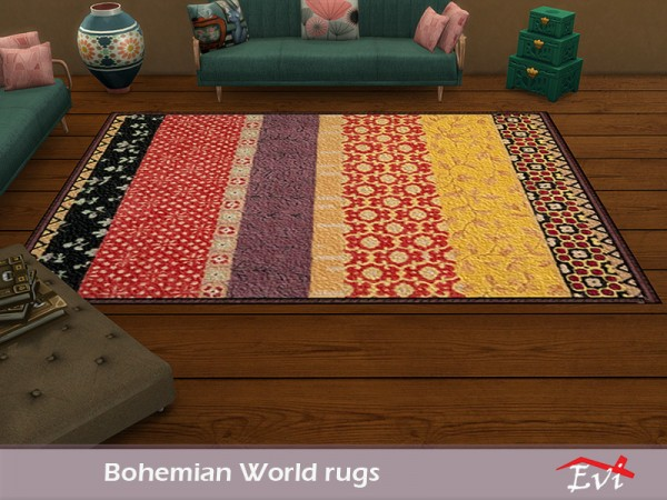 The Sims Resource: Boho World Rugs by evi
