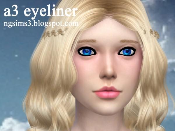 NG Sims 3: A3 eyeliner