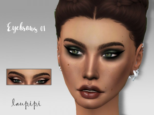 The Sims Resource: Eyebrows 01 by Laupipi