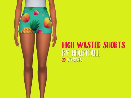 Simsworkshop: High Waisted Shorts by heartfall