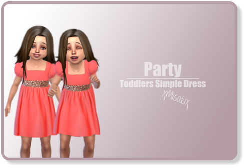 Xmisakix sims: Toddlers Simple Dress