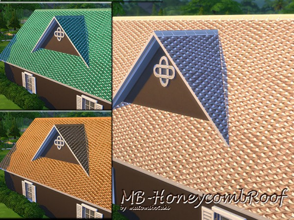 The Sims Resource: Honeycomb Roof by matomibotaki