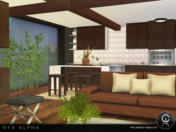 The Sims Resource: Nyx Alpha house by Pralinesims