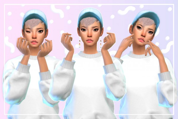 Simsworkshop: Aegyo 6 poses