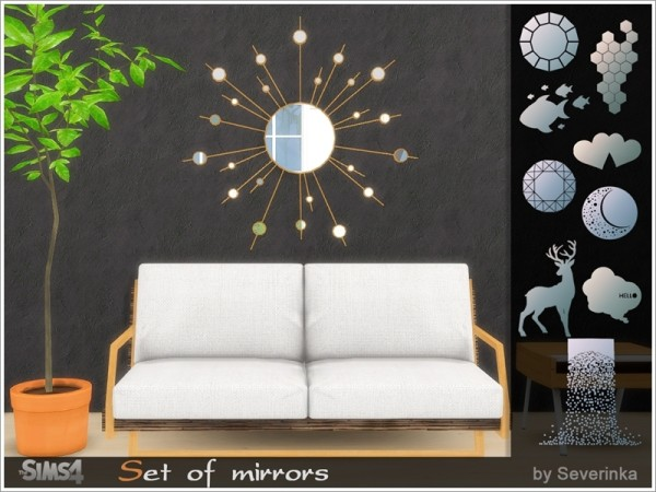 The Sims Resource: Set of mirrors by Severinka