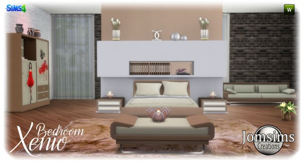 Jom Sims Creations: Bedroom Xenio