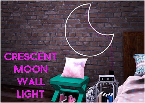 Simsworkshop: Sympxls Crescent Moon Wall Light