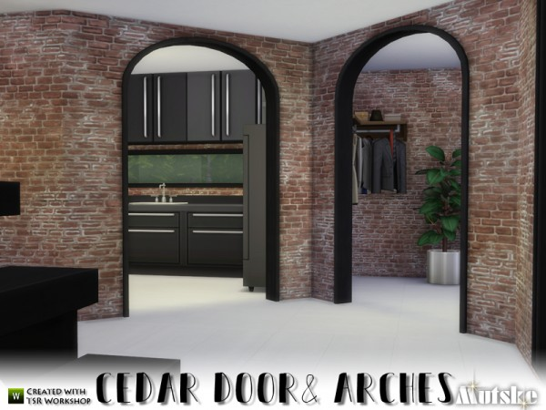 The Sims Resource: Cedar Doors and Arches by mutske