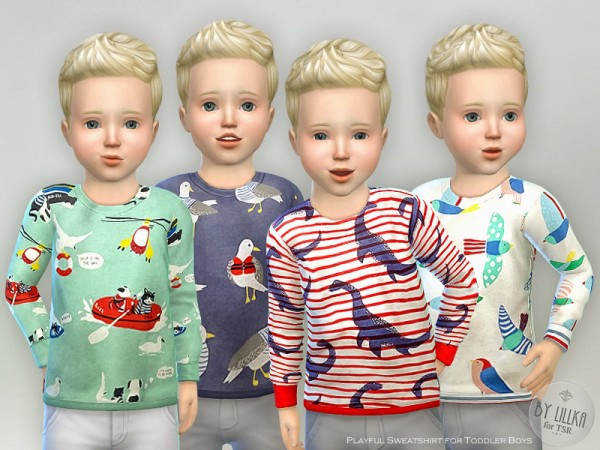 The Sims Resource: Playful Sweatshirt for Toddler Boys by lillka
