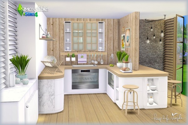 Simcredible Designs Keep Life Simple Kitchen Sims 4