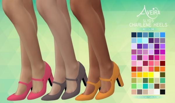Aveira Sims 4: SLYD's Charlene Heels   Recolor