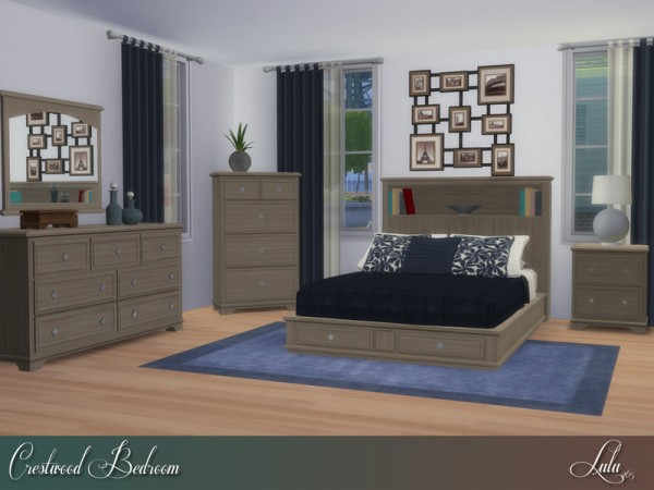 The Sims Resource: Crestwood Bedroom by Lulu265