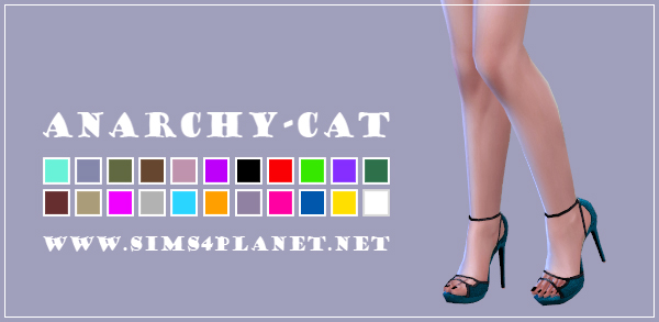 Anarchy Cat: Madlen`s Attila Shoes recolor