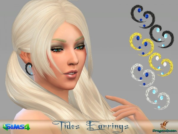 The Sims Resource: Tides Earrings by DragonQueen
