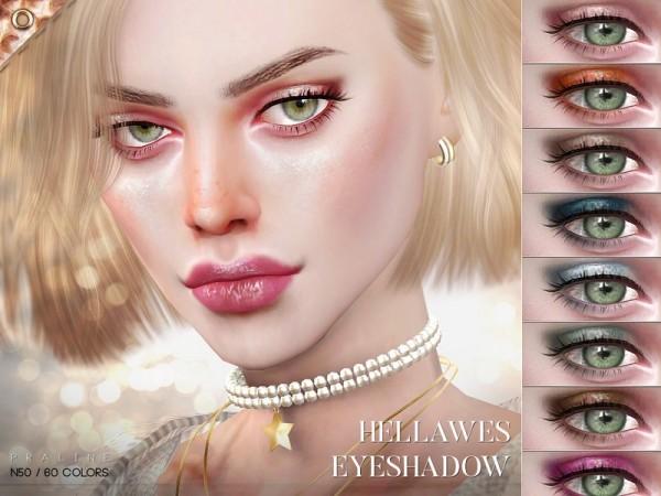 The Sims Resource: Hellawes Eyeshadow N50 by Pralinesims