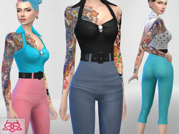 The Sims Resource: Psychobilly Set 2 by Colores Urbanos