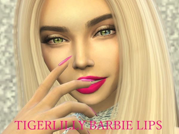 The Sims Resource: Barbie Lips by tigerlillyyyy