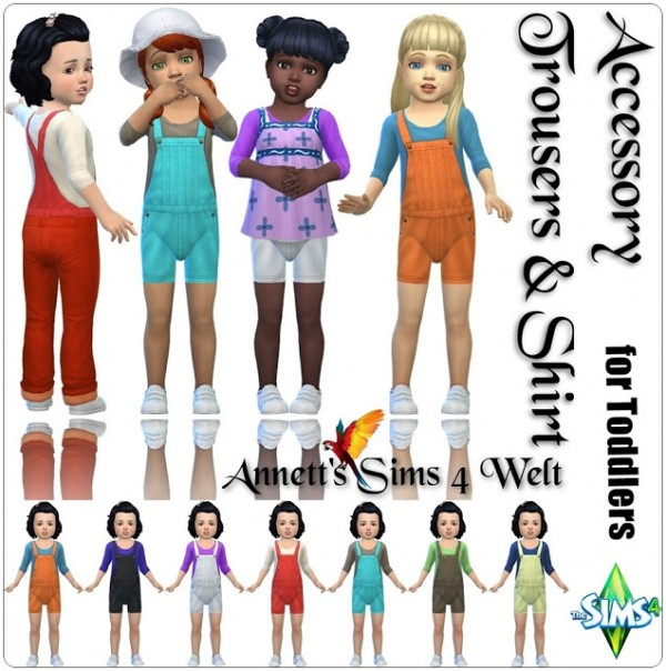 Annett`s Sims 4 Welt: Toddlers Accessory Trousers and Shirts