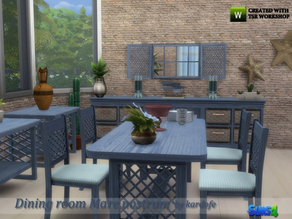 The Sims Resource: Dining room Mare nostrum by Kardofe
