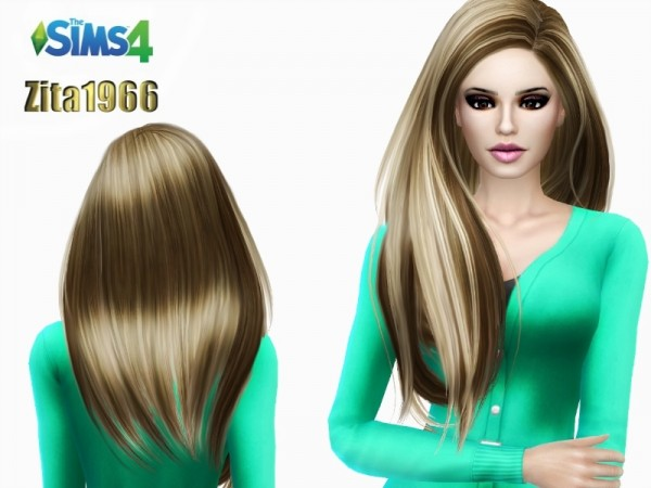The Sims Resource: Jomin Blond Highlights hairstyle by ZitaRossouw