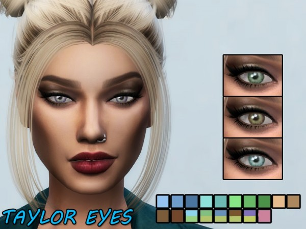 The Sims Resource: Taylor Eyes by Kitty.Meow