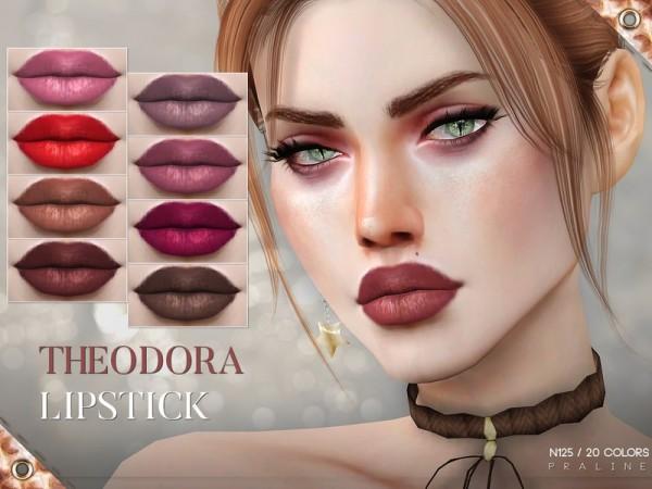 The Sims Resource: Theodora Lipstick N125 by Pralinesims
