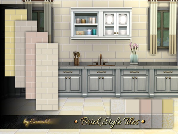 The Sims Resource: Brick Style Tiles by emerald