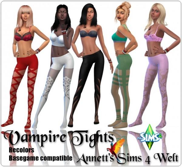 Annett`s Sims 4 Welt: Vampire Tights   Recolors