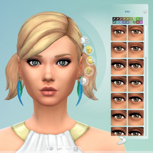Mod The Sims: Two tone eyes by TootyTaloola