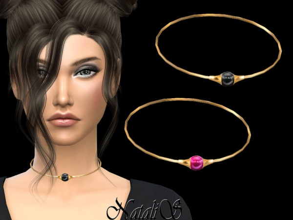The Sims Resource: Choker with cabochon by NataliS