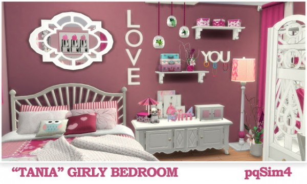 PQSims4: Tania Girly Bedroom