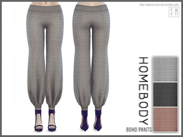 The Sims Resource: Homebody   Boho Pants by Screaming Mustard