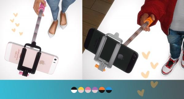 Nyuska: Pose pack: Selfie stick and iphone