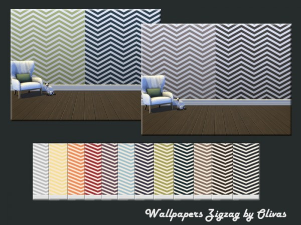 The Sims Resource: Wallpapers Zigzag by olivas
