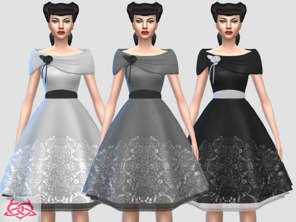 The Sims Resource: Sofi dress reclor lace by Colores Urbanos