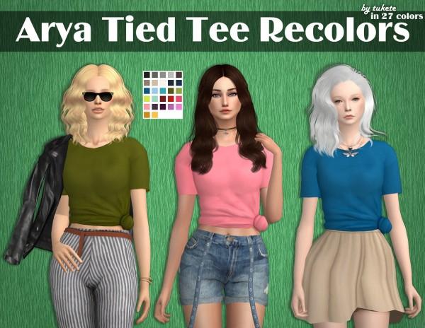 Tukete: Arya Tied Tee Recolors