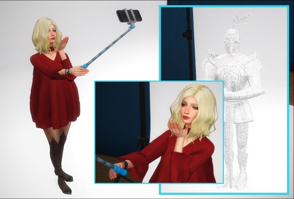 Nyuska: Pose pack: Selfie stick and iphone