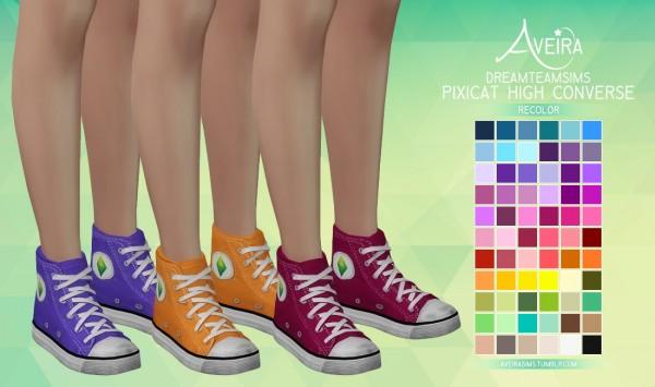 Aveira Sims 4: Dreamteamsims Pixicat High Converse   Recolor