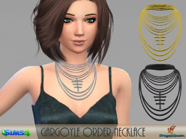 The Sims Resource: Gargoyle Order Necklace by DragonQueen