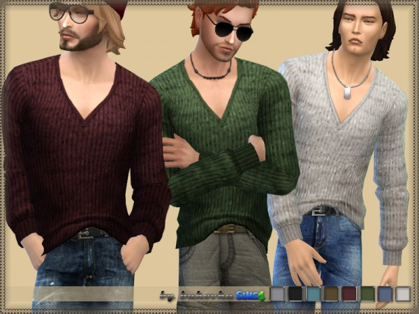 The Sims Resource: Melange Sweater by bukovka